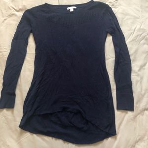 New York and Co long sleeve navy blue sweater